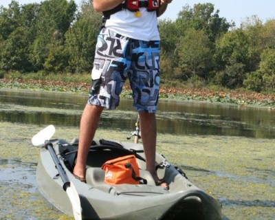 stand up kayak fishing