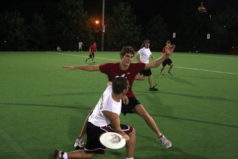 ultimate frisbee players