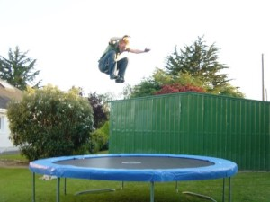 a-man-trampolines