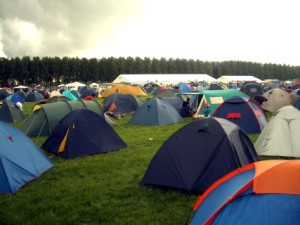 lots of tents