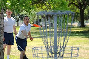 Disc Golfer Playing Game