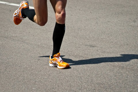 some legs running