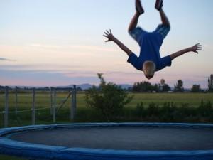 a-boy-trampolines