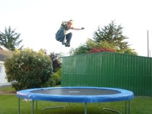 a-man-trampolines