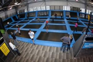 a trampoline park