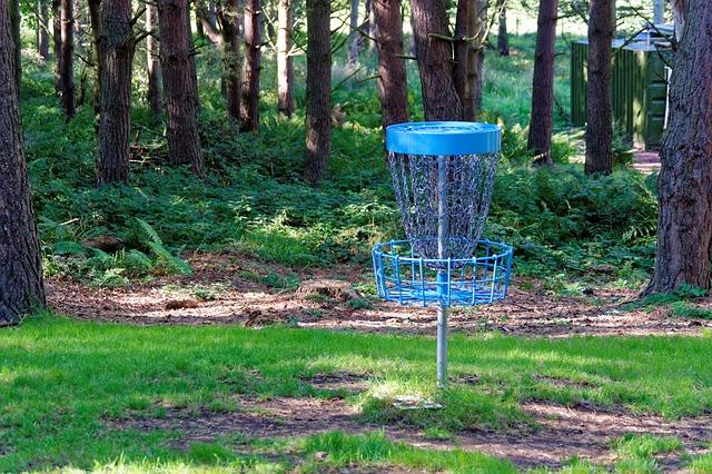 a disc golf hole